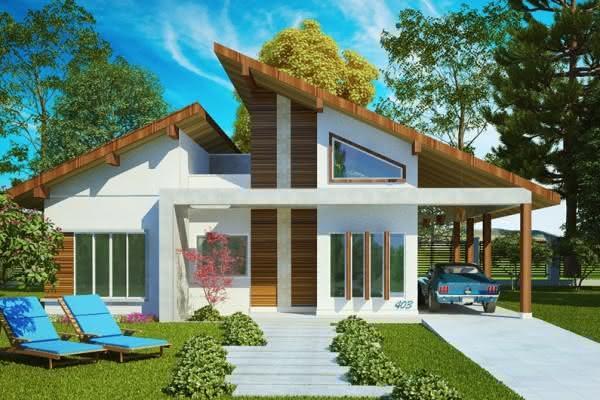 109 fachadas de casas simples e pequenas fotos lindas for Casa moderna wallpaper