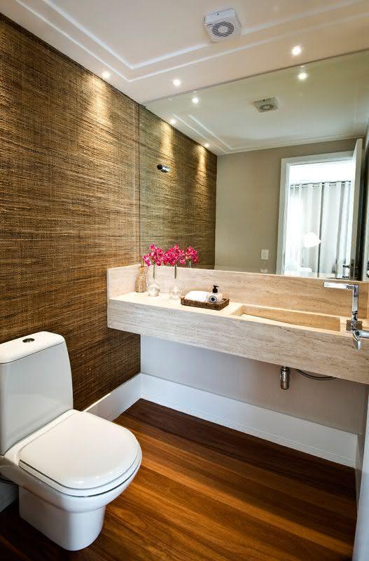 60 Bancadas de Banheiros e Lavabos para te Inspirar -> Decoracao Banheiro Lavabo