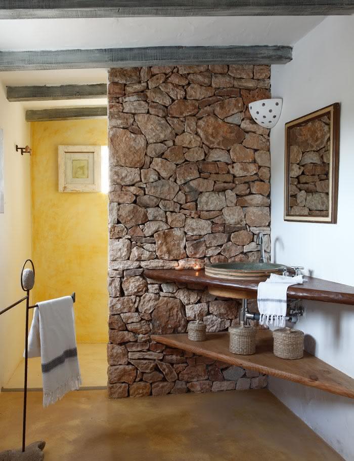 50 fotos de decora o r stica em ambientes for Revestimiento ceramico paredes interiores