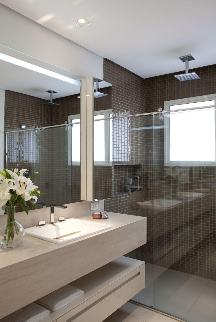 60 Bancadas de Banheiros e Lavabos para te Inspirar -> Cuba Para Banheiro Caramelo