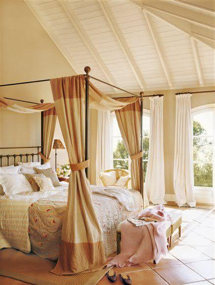 50 ideias de camas com dossel decora o e fotos - Camas estilo romantico ...
