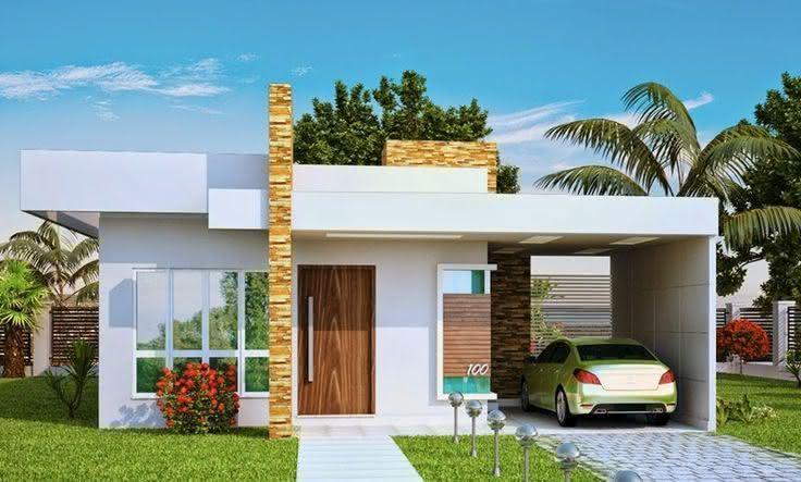 109 fachadas de casas simples e pequenas fotos lindas for Modelos de casas minimalistas pequenas