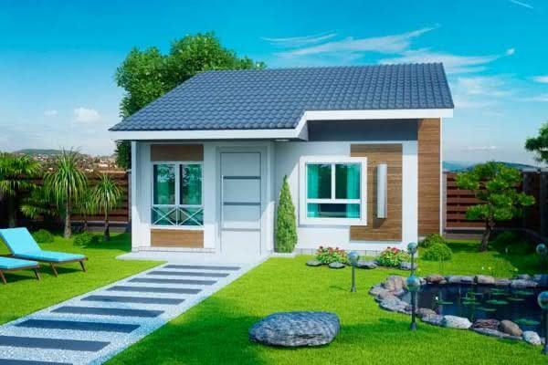 109 fachadas de casas simples e pequenas fotos lindas for Casa moderna 90m2