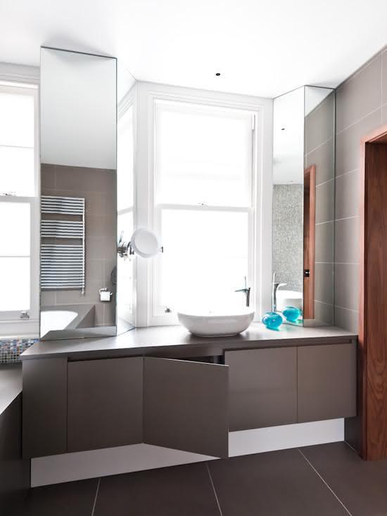 Gabinete Para Banheiro Gabinete para banheiro com pedra de granito -> Cuba Para Banheiro Cinza