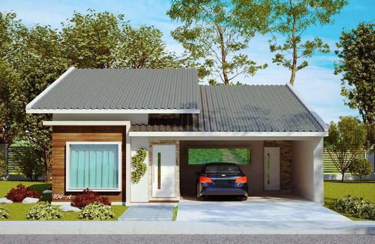 109 fachadas de casas simples e pequenas fotos lindas - Fotos de casas de un solo piso ...