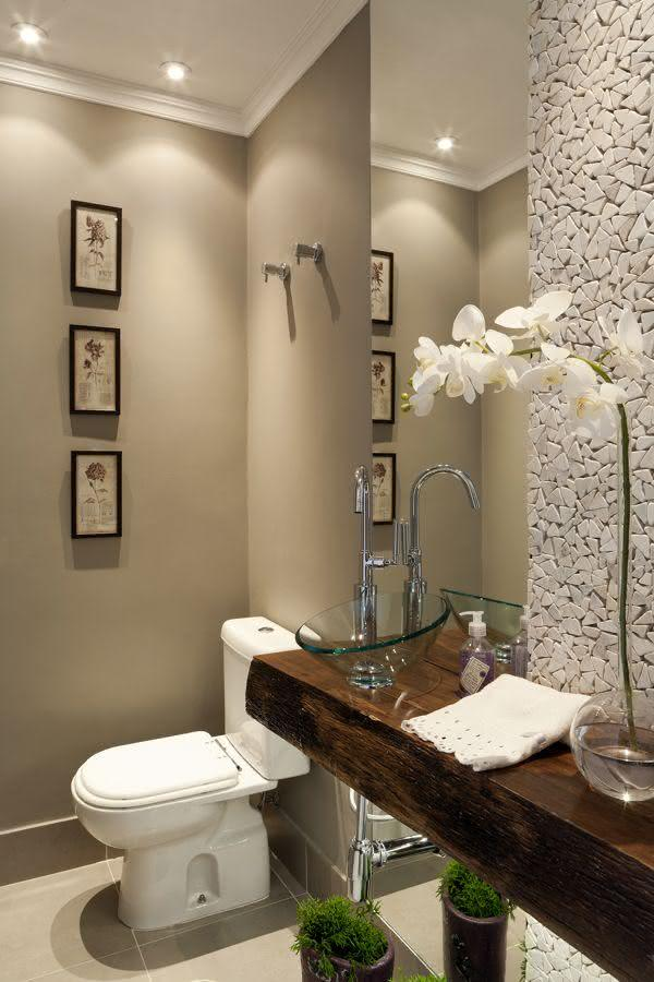 60 Bancadas de Banheiros e Lavabos para te Inspirar -> Banheiro Pequeno Zen