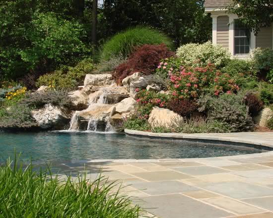 Cascata para piscina para casas de campo