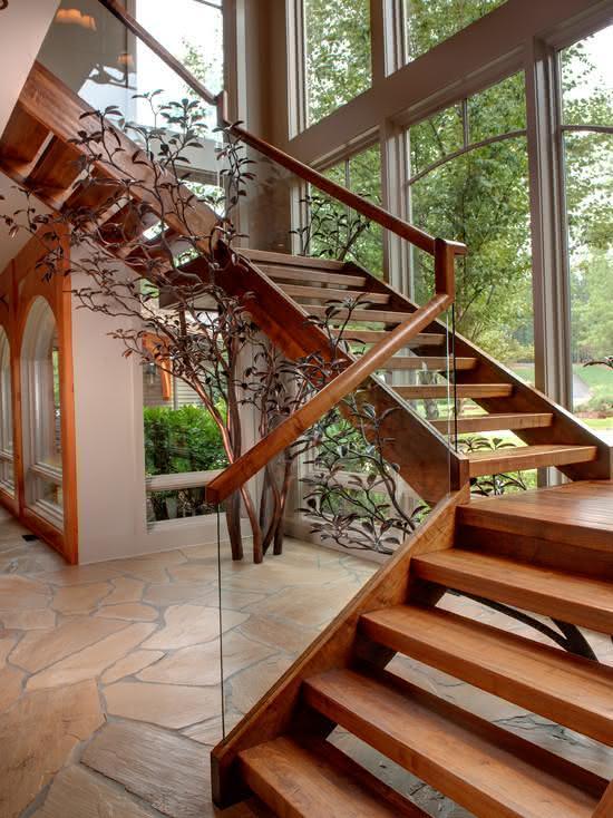 80 Escadas de madeira modernas para o seu projeto