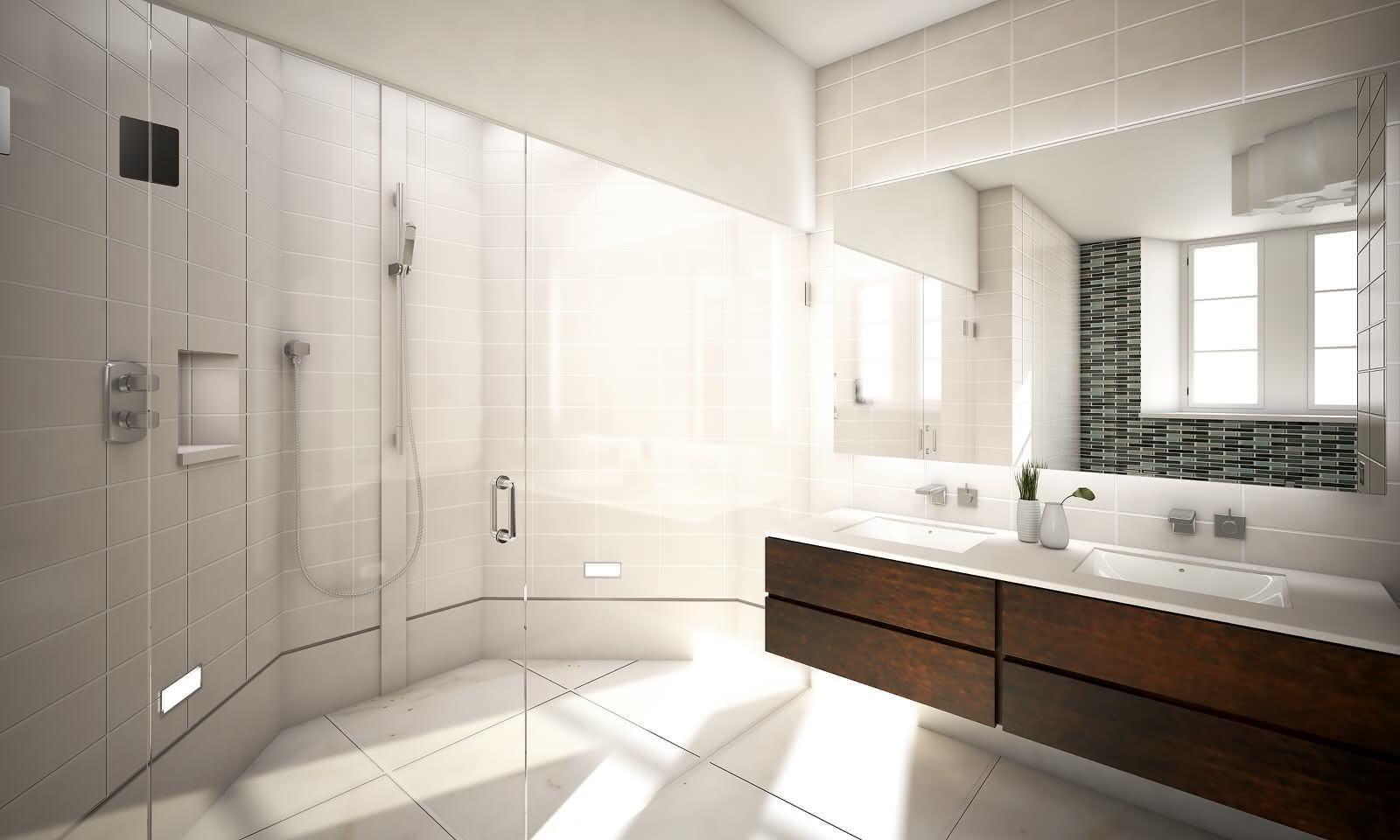 50 Bancadas de Banheiros e Lavabos para te Inspirar #34261C 1600x960 Bancada Banheiro Azul