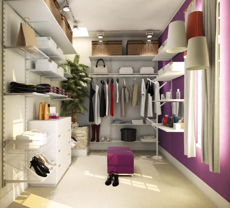 50 closets femininos decorados incr veis fotos for Modelos de walk in closet