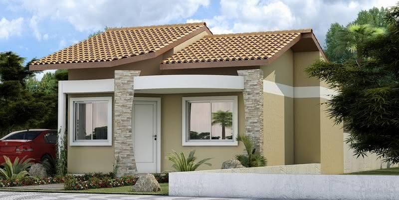 109 fachadas de casas simples e pequenas fotos lindas for Modelos de parrillas para casas pequenas
