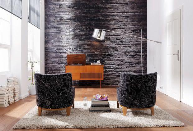 50 paredes com pedras como revestimento fotos for Materiales para decorar paredes interiores