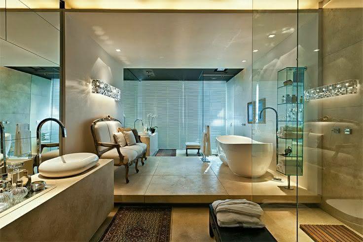 50 Fotos de Decoração com Estilo Vitoriano para te Inspirar -> Banheiro Pequeno E Luxuoso