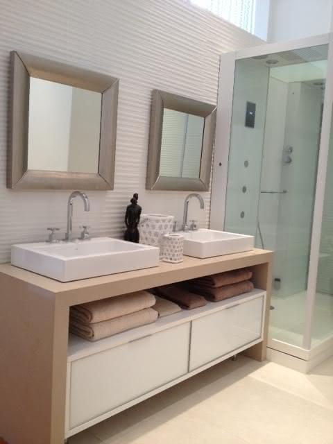 50 Bancadas com Silestone para Cozinhas e Banheiros -> Cuba Banheiro Silestone