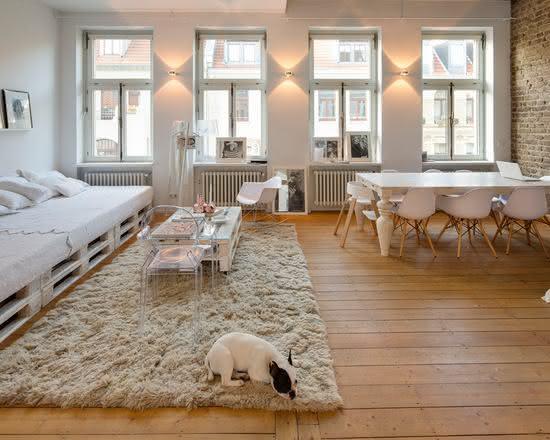 Sofá de pallet com cama