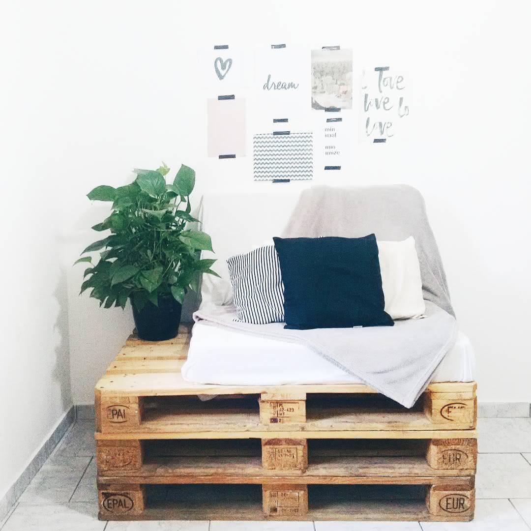 Poltrona-sofá de pallet