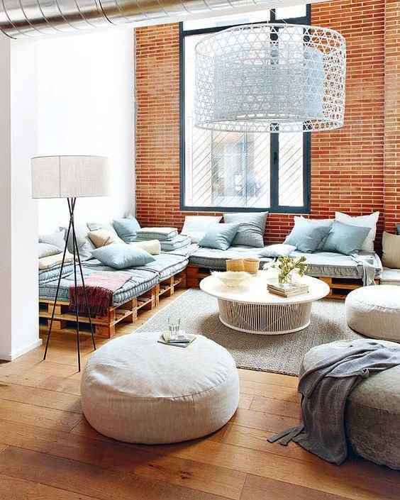 Sofá de pallet para sala de estar