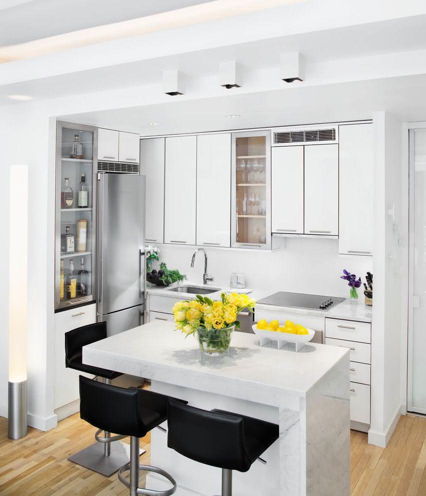Projeto Cozinha Pequena Apartamento Projetos De Cozinhas Modernas