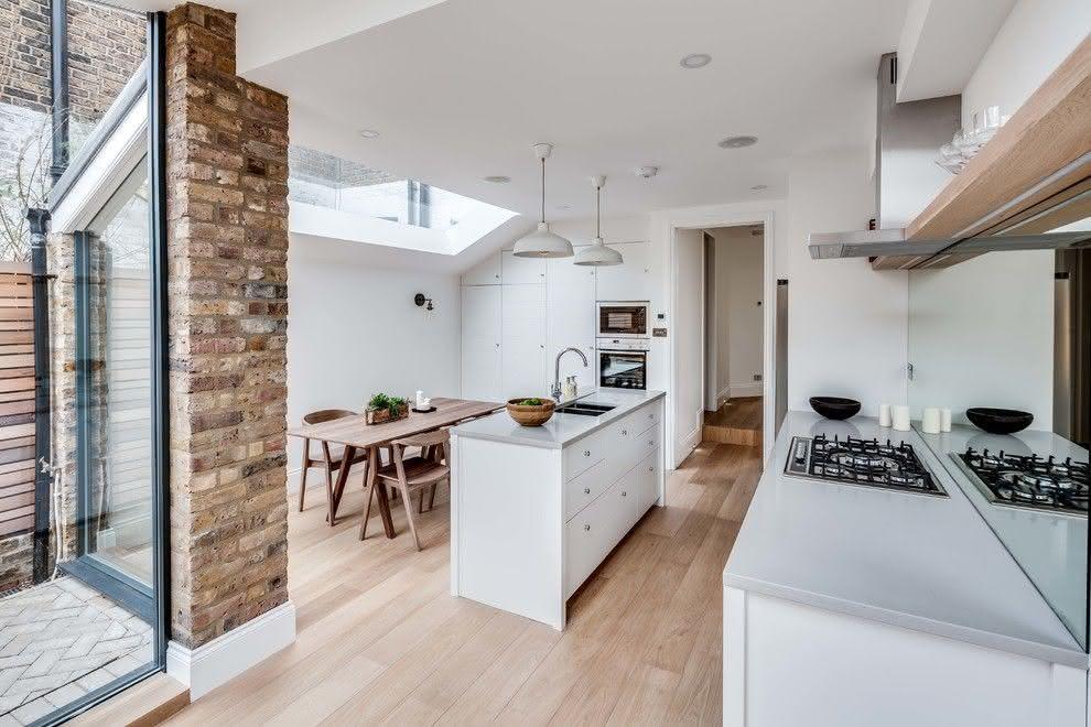 100 cozinhas com ilha central projetos e fotos incr veis for Victorian home kitchen ideas