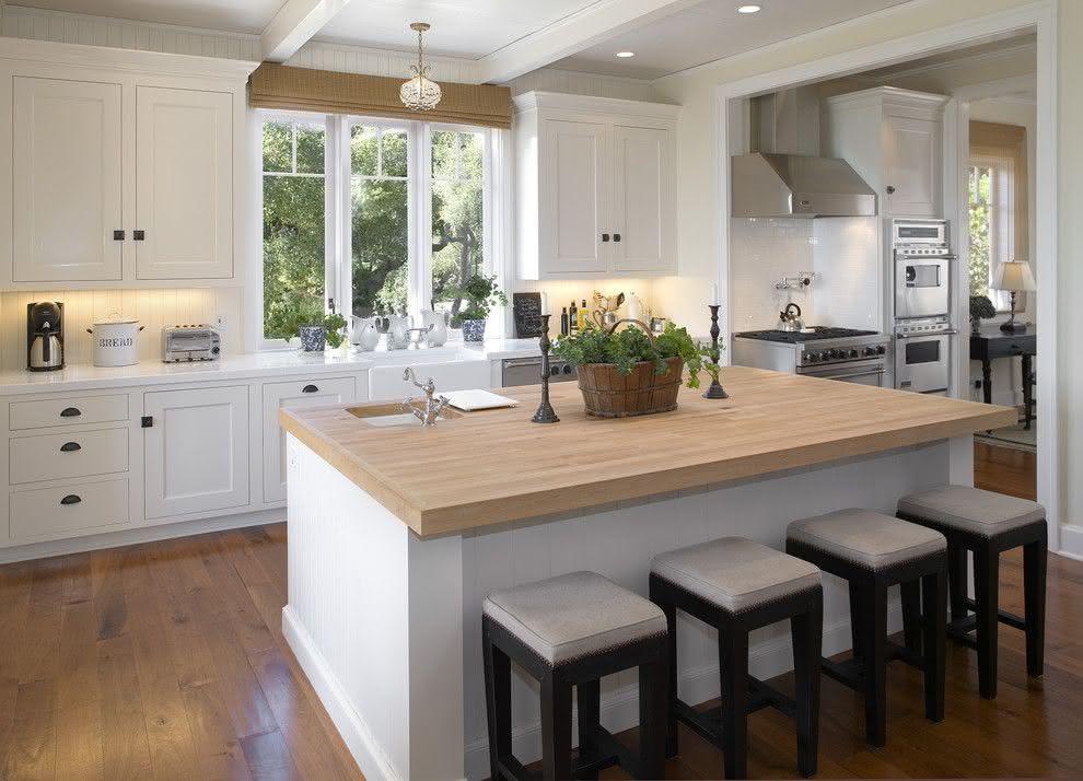 100 Cozinhas com Ilha Central Projetos e Fotos Incríveis # Cozinha Com Ilha Estreita