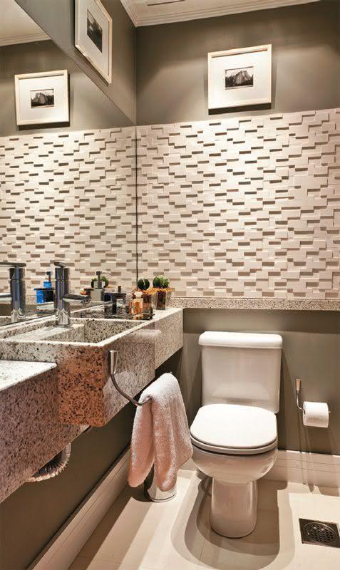 50 Lavabos Modernos Lindos para te Inspirar  Fotos -> Banheiro Pequeno E Chique