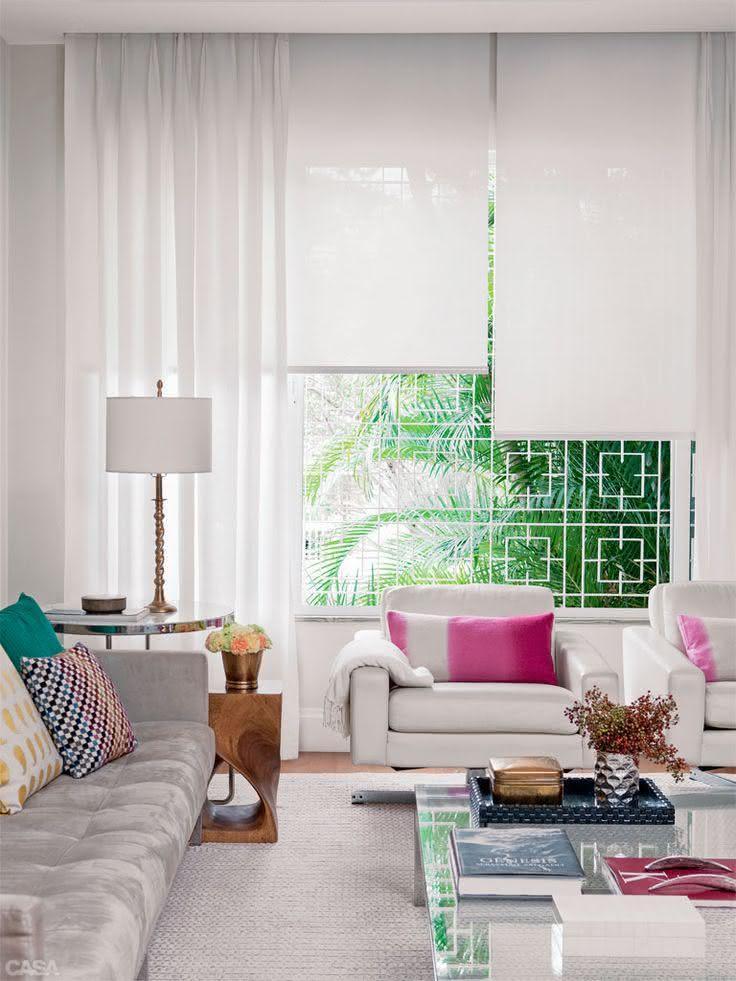 50 ambientes com cortinas modernas e elegantes fotos for Modelos de cortinas modernas