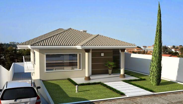 109 fachadas de casas simples e pequenas fotos lindas for Modelos de fachadas modernas