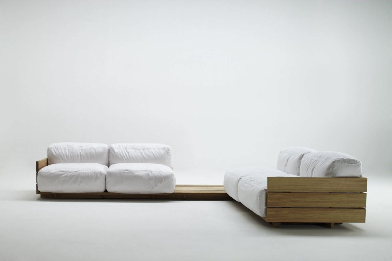 Sofá de pallet branco