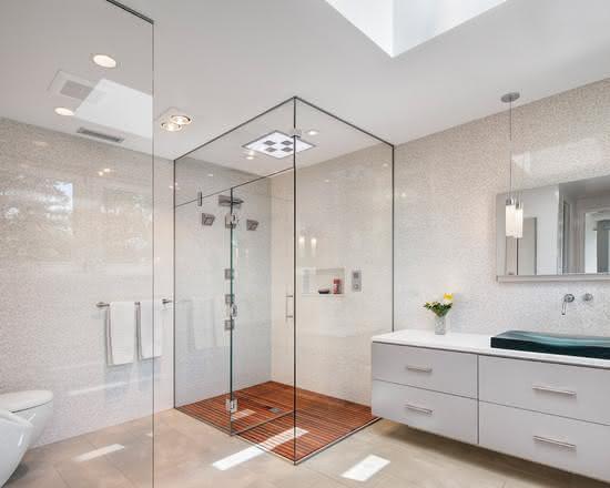 loft conversion ideas houzz - 50 Banheiros Brancos e Claros para o seu Projeto