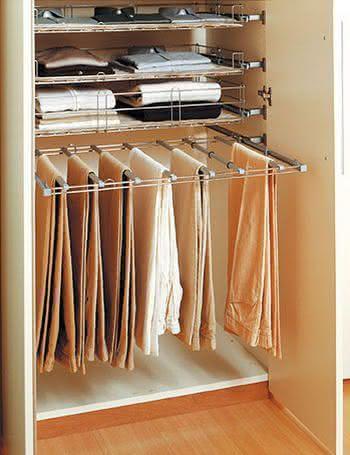 Como arrumar calças em gavetas