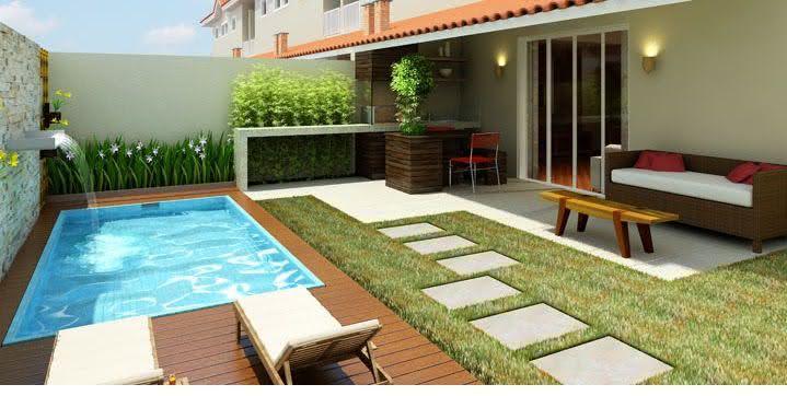 49 fotos de paisagismo para piscinas inspire se for Piscinas pequenas para jardin