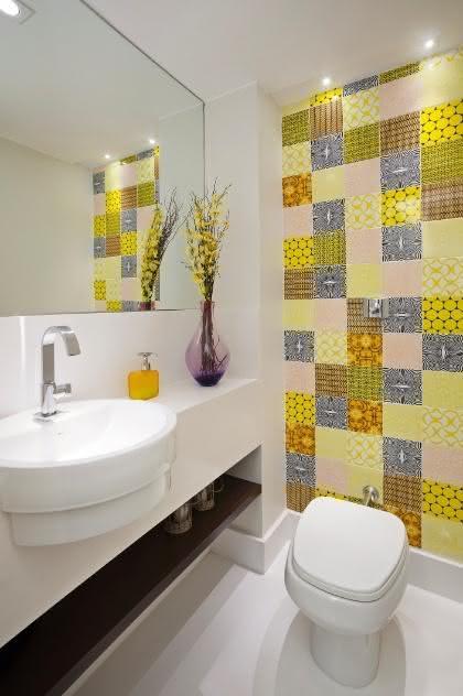 50 Lavabos Modernos Lindos para te Inspirar  Fotos -> Banheiro Pequeno Dos Sonhos