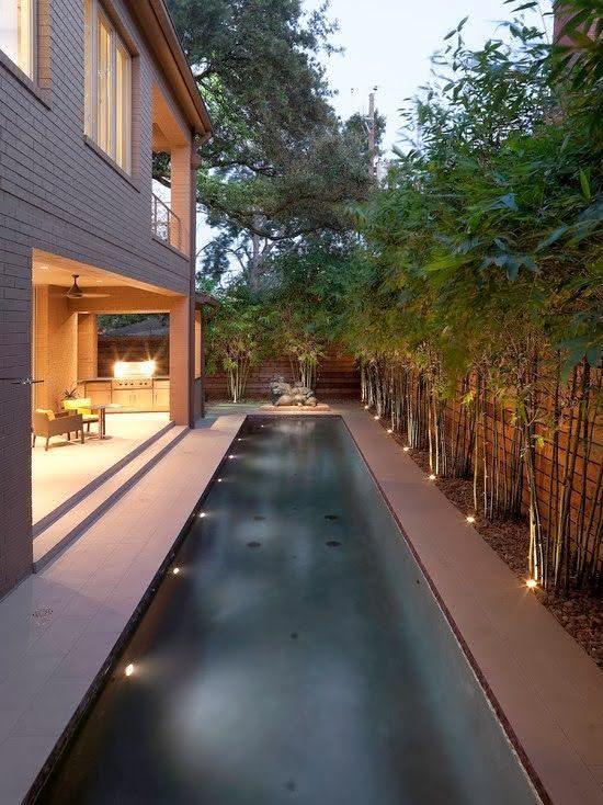 49 fotos de paisagismo para piscinas inspire se - Piscinas alargadas y estrechas ...