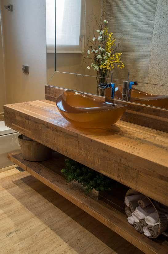 50 Casas de Fazenda Decoradas Incríveis para Inspirar -> Como Fazer Uma Cuba Para Banheiro Artesanal