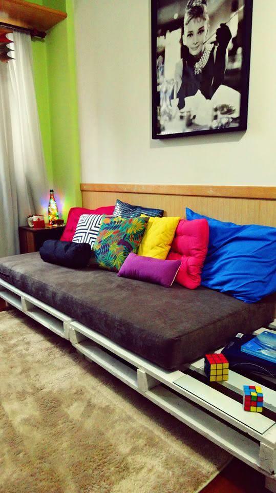Sofá de pallet para quarto