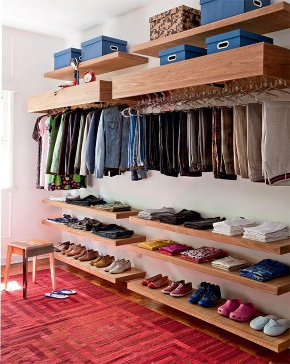 Como organizar o guarda roupa 55 dicas incr veis for Como organizar espacios pequenos