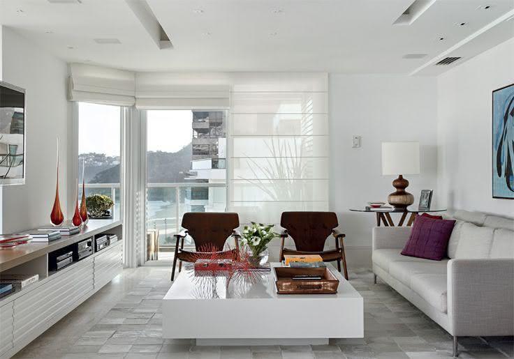 Salas De Estar Chiques E Modernas ~ 50 Ambientes com Cortinas Modernas e Elegantes  Fotos