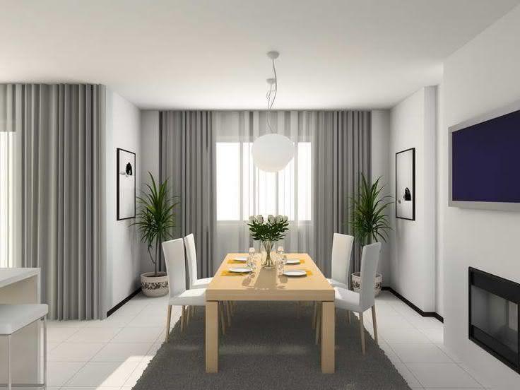 50 ambientes com cortinas modernas e elegantes fotos for Cortinas blancas para sala