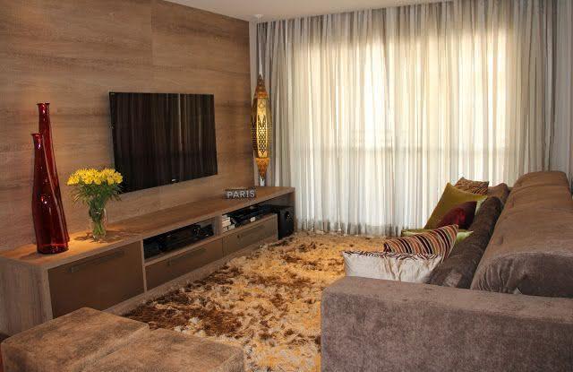 50 ambientes com cortinas modernas e elegantes fotos for Cortinas de visillo para sala