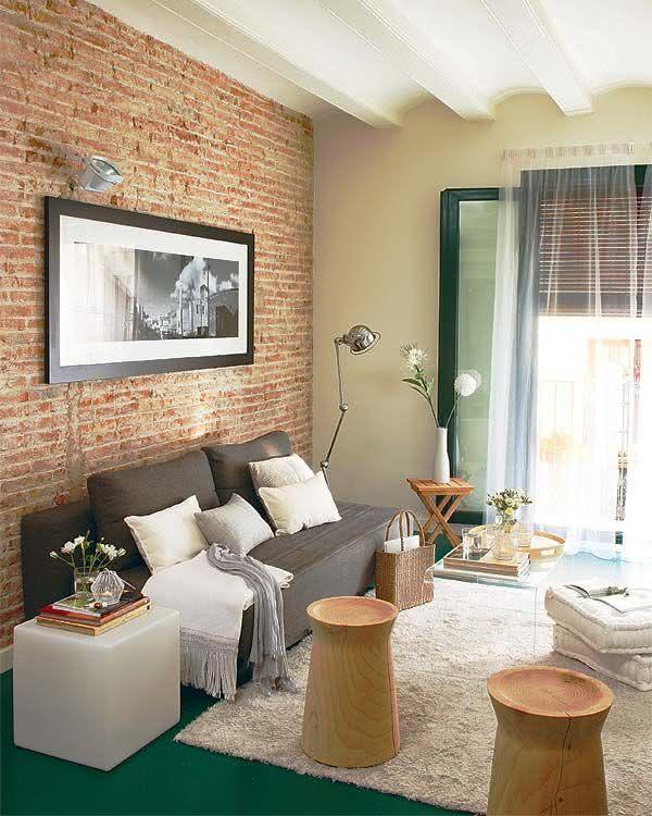 50 paredes com tijolinhos vista inspiradoras. Black Bedroom Furniture Sets. Home Design Ideas