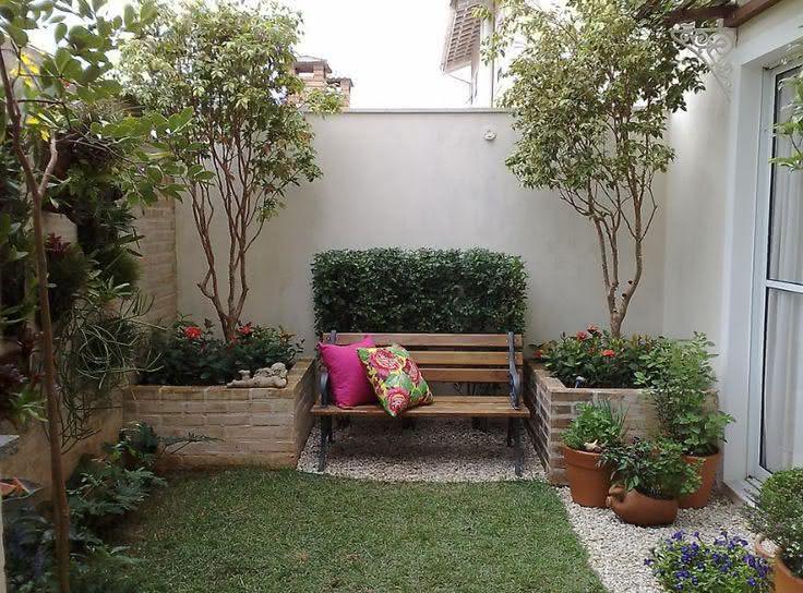 50 jardins pequenos incr veis para casas e apartamentos for Decoracion de patios pequenos con plantas
