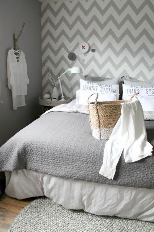 50 quartos de casal cinza inspiradores fotos for Papel de pared rustico