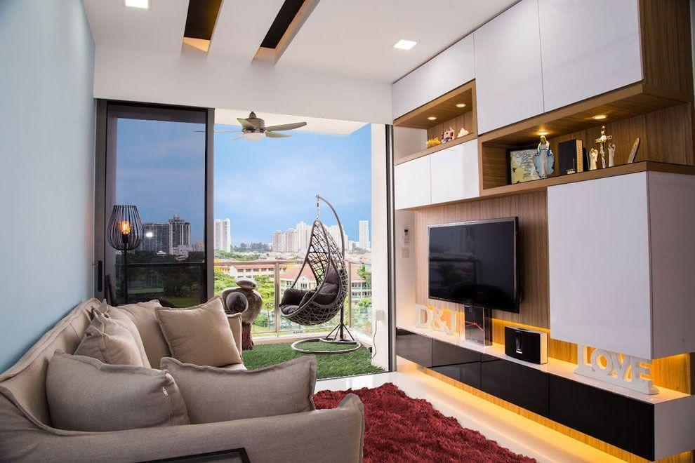Salas de estar pequenas 77 projetos incr veis com fotos - Decoracion sala de estar pequena ...