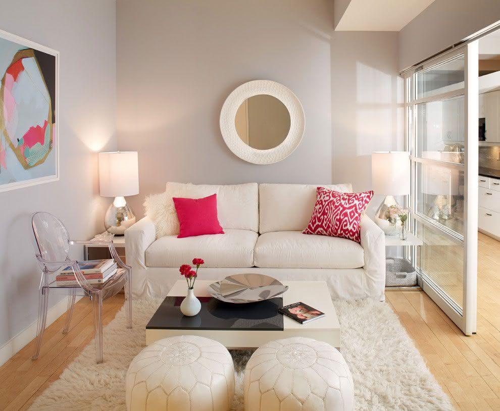 Salas De Estar Pequenas 77 Projetos Incr Veis Com Fotos -> Sala De Estar Pequena Dois Ambientes