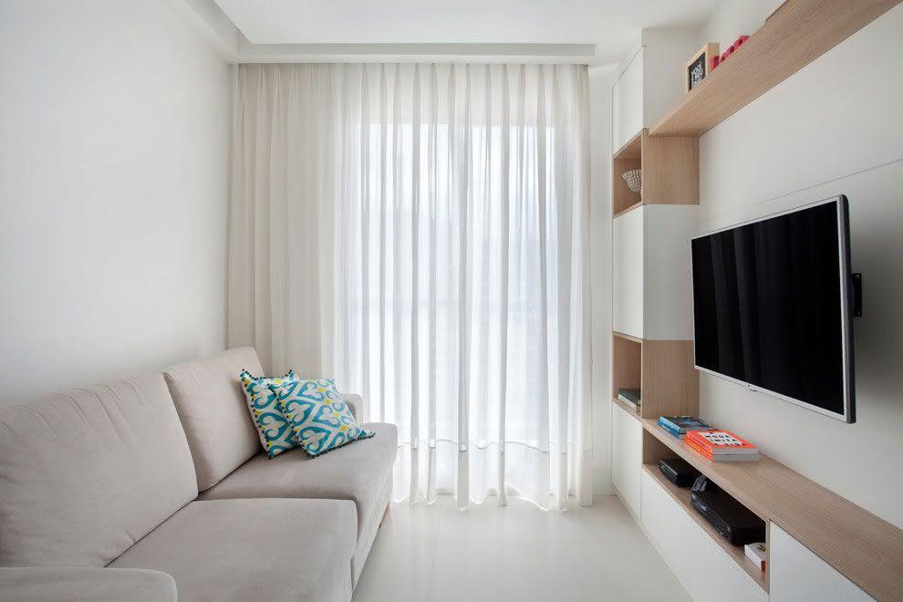 Salas de estar pequenas 77 projetos incr veis com fotos for Modelos de salas pequenas
