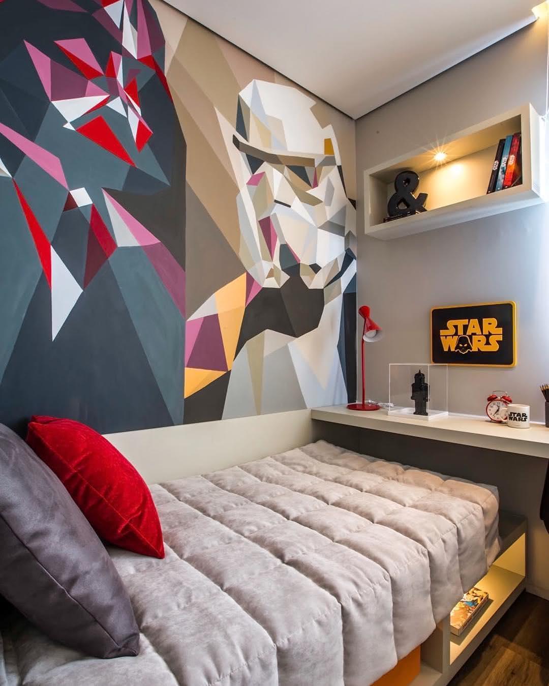 Projeto de quarto com a temática da série Star Wars