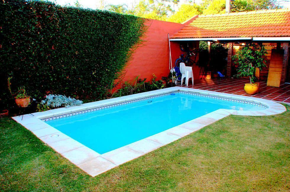 90 piscinas pequenas modelos projetos fotos lindas for Casa de campo pequena con piscina
