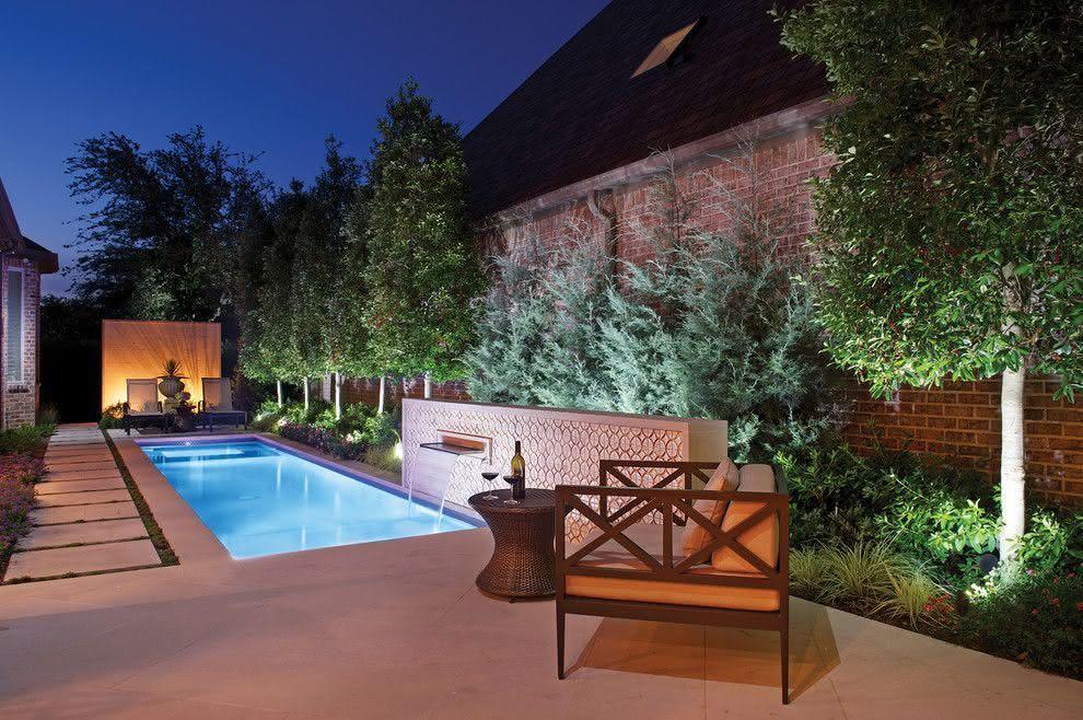 90 piscinas pequenas modelos projetos fotos lindas for Modelos de patios de casas pequenas
