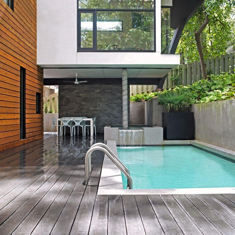 90 piscinas pequenas modelos projetos fotos lindas - Fotos de casas con piscinas pequenas ...