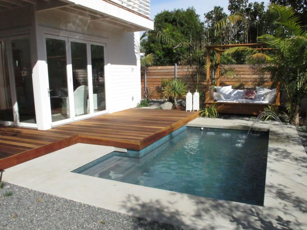 90 piscinas pequenas modelos projetos fotos lindas for In casa piscina